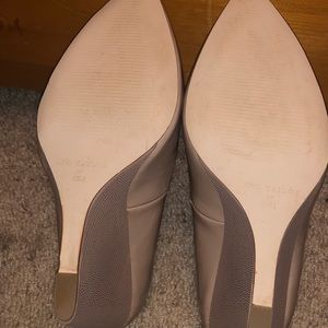 Ann Taylor Shoes - Nude patent wedge Ann Taylor size 6.5- like new